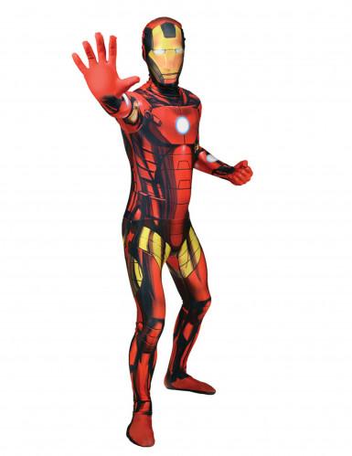 Disfarce Morphsuits™ Iron Man™ clássico adulto