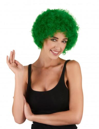 Peruca afro/ palhaço verde adulto