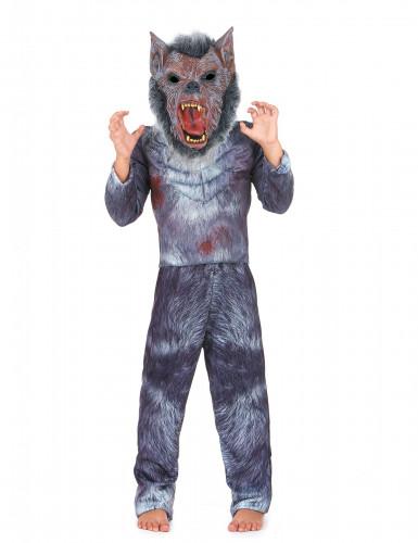 Disfarce homem-lobo criança Halloween