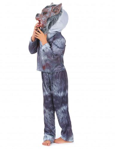 Disfarce homem-lobo criança Halloween-1