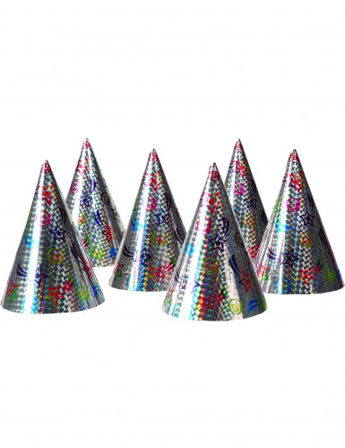 6 Chapéus de festa com estrelas