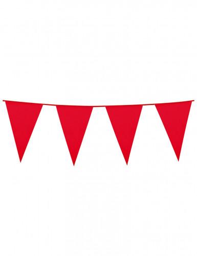 Grinalda de bandeirolas vermelhas 10m