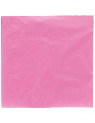 50 Guardanapos cor-de-rosa