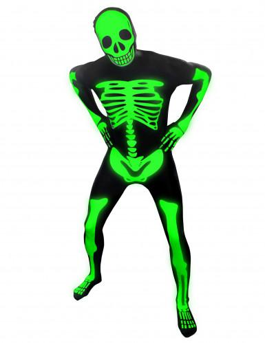 Disfarce esqueleto fosforescente criança Morphsuits™