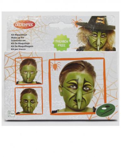 Kit de maquilhagem feiticeira criança Halloween