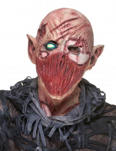 Máscara de látex demónio terrível adulto Halloween
