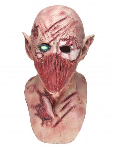 Máscara de látex demónio terrível adulto Halloween-2