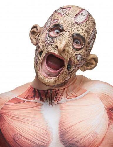 Máscara de látex bruxo adulto
