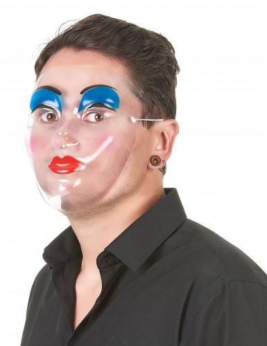 Máscara transparente com maquilhagem para mulher-1