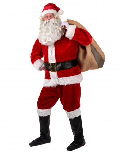 Disfarce completo Pai Natal Luxo adulto-1