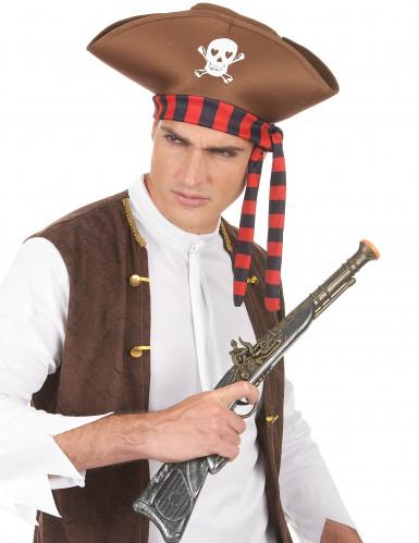 Chapéu de pirata castanho adulto-2