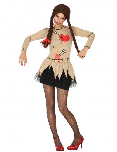 Disfarce boneca de vudu mulher Halloween