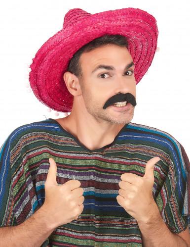 Sombrero mexicano cor-de-rosa adulto-1