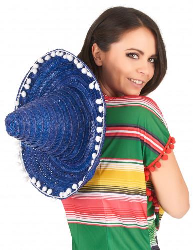 Sombrero mexicano azul adulto-2