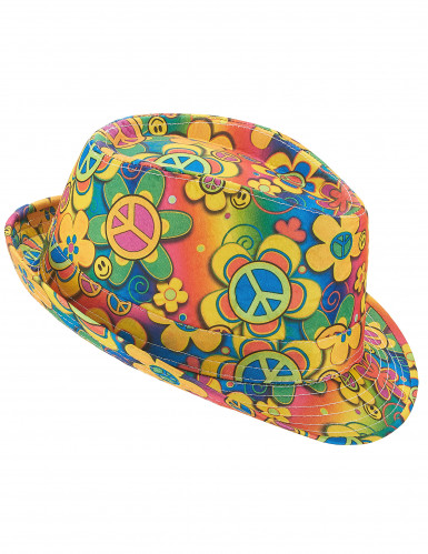 Chapéu borsalino hippie adulto