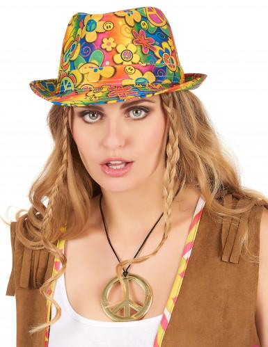 Chapéu borsalino hippie adulto-1