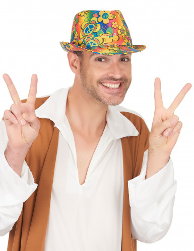 Chapéu borsalino hippie adulto-2