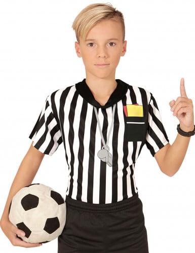 T-shirt árbitro de futebol criança