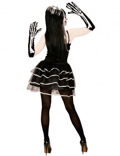 Disfarce de esqueleto tutu mulher Halloween-1