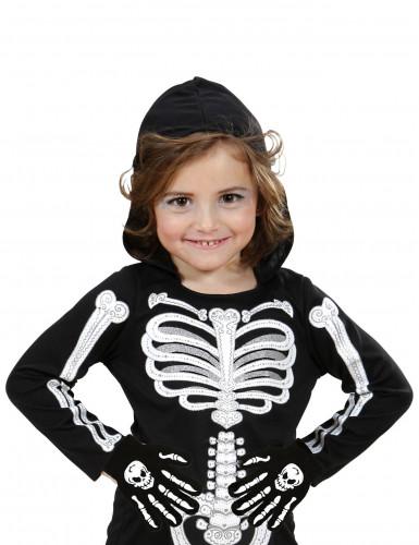 Luvas caveira e ossos criança-1