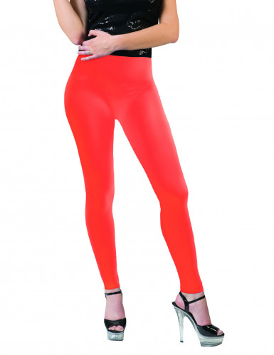 Leggings cor de laranja fluo adulto
