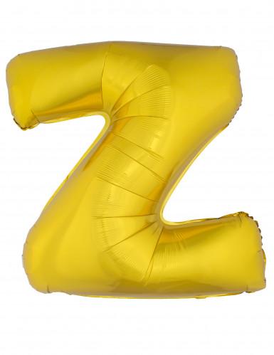 Balão alumínio dourado gigante letra Z 1m
