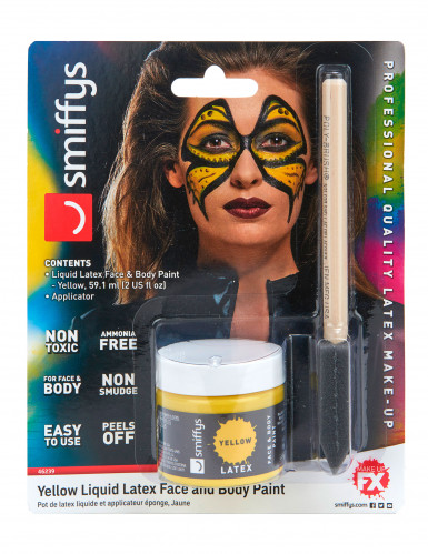 Maquilhagem látex líquido amarelo com esponja 59 ml