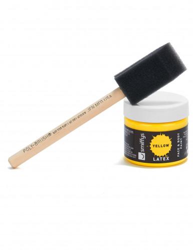 Maquilhagem látex líquido amarelo com esponja 59 ml-2