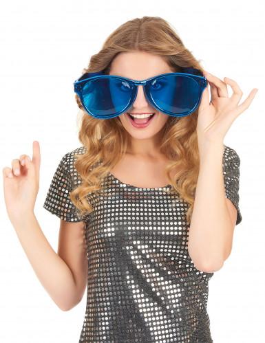 Óculos gigantes azuis adulto-1