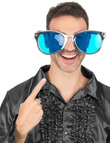 Óculos gigantes prateados adulto-2