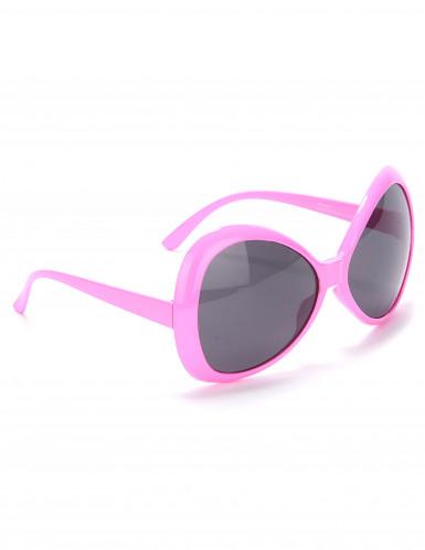 Óculos disco adulto cor-de-rosa