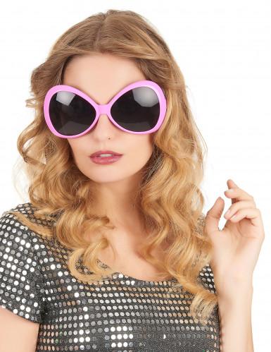 Óculos disco para adulto cor-de-rosa-1