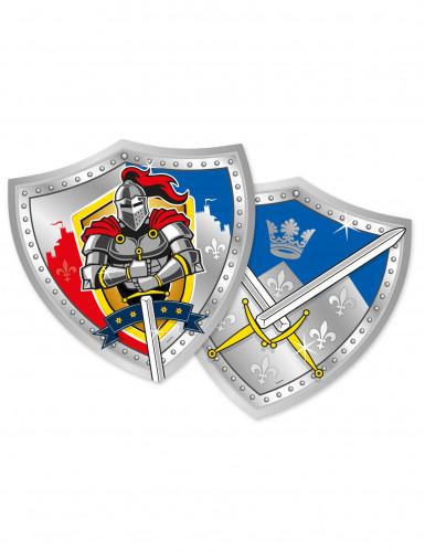 6 Pratos de cartão cavaleiros