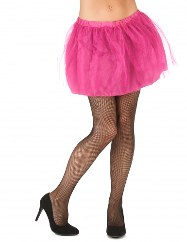 Tutu cor-de-rosa com saiote opaco mulher