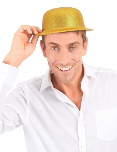 Chapéu de plástico dourado adulto-2