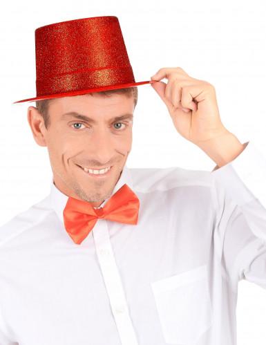 Chapéu alto de plástico vermelho brilhante adulto-2