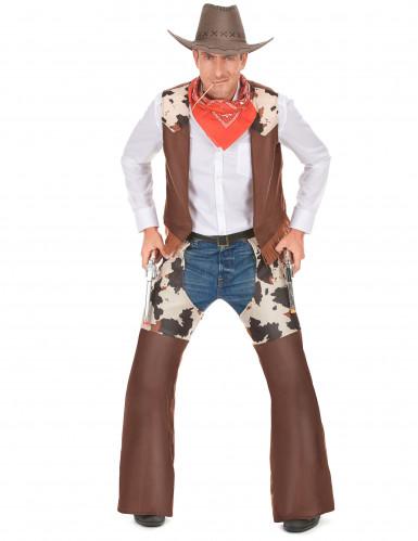 Disfarce cowboy do faroeste homem