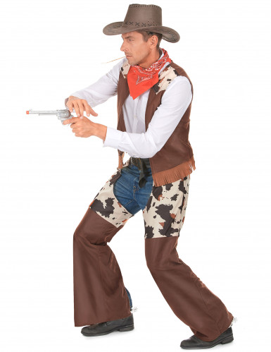 Disfarce cowboy do faroeste homem-1