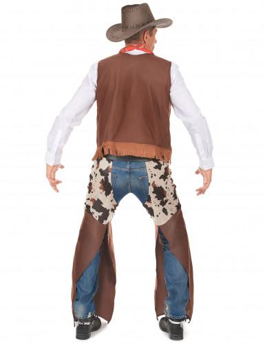 Disfarce cowboy do faroeste homem-2