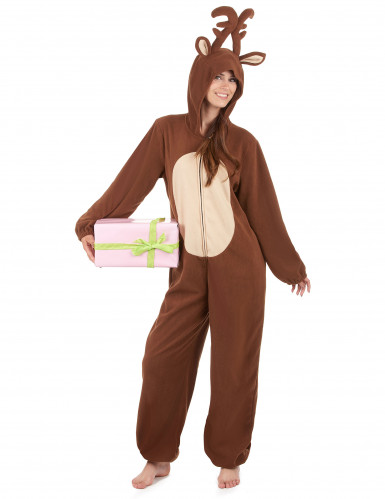 Combinação com capuz rena mulher