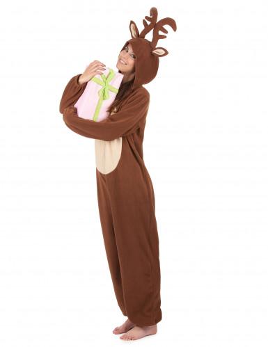 Combinação com capuz rena mulher-1