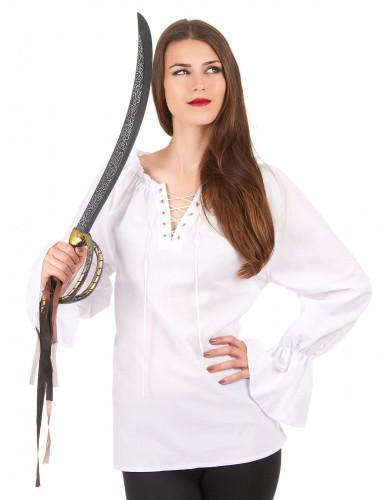 Camisa mangas compridas brancas mulher