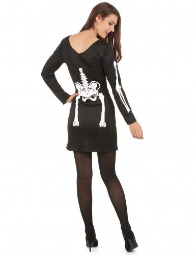Disfarce esqueleto Halloween mulher-2