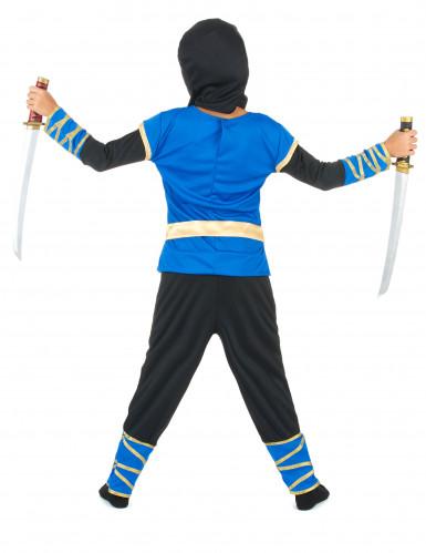 Disfarce ninja azul e dourado menino-2