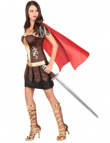 Disfarce de gladiadora romana adulto-1