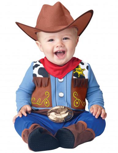 Disfarce Cow Boy para bebé - Clássico