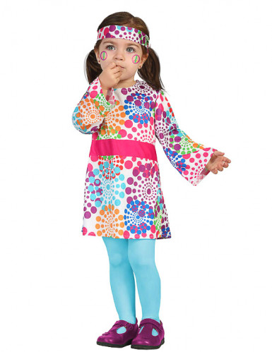Disfarce hippie colorido para bebé