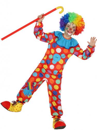 Disfarce Palhaço colorido criança