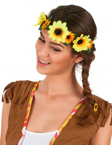 Coroa de flores girassol adulto