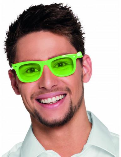 Óculos verdes fluo anos 80' adulto